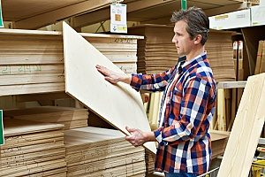 a contractor purchasing medium density overlay plywood