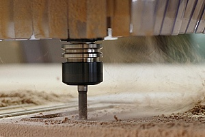drilling to show how is plywood made