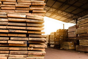 Wood factory stock and lumber board