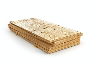 stack of fire-rated plywood that can be used in the construction of a building