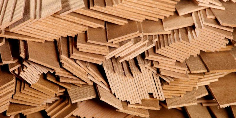 Cross-section of different sizes of fire rated plywood