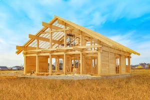 The frame of the house. Fire retardant plywood can be used for most exterior applications