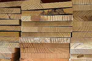 Closeup of preservative treated woods