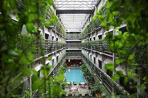 Interior architecture of a green building
