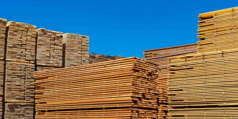 Pallets of Copper Azole treated planks