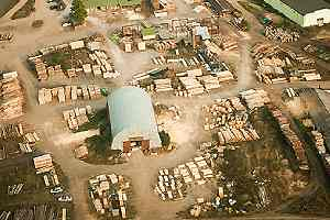 Lumber production plant. Wholesale lumber suppliers usually sell a much larger range of types of lumber