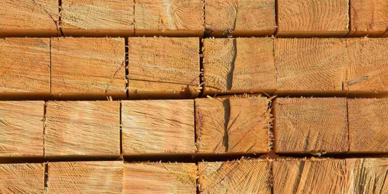 Wooden Studs at the Lumber Yard