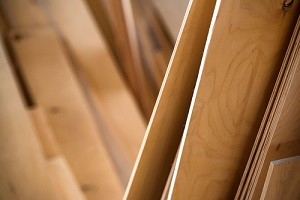 close up of types of plywood sheets