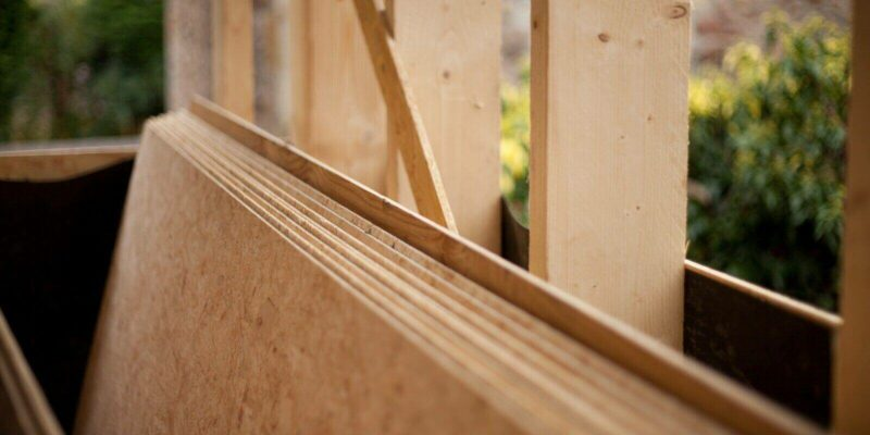 wooden construction plywood